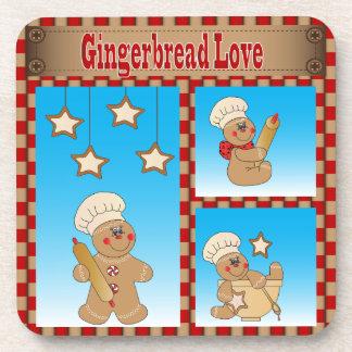 Love Gingerbread Man Bakers Beverage Coaster