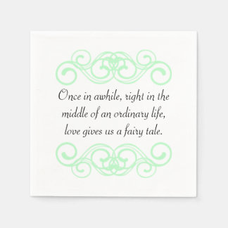 Love gives us a fairytale quote paper napkin