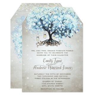 Love gives us Fairy Tale Heart Leaf Tree Wedding Card