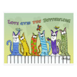 Love Gives you Butterflies-Cats on Fence Postcard
