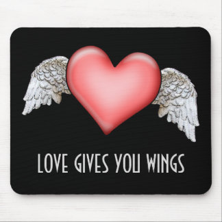 Love gives you Wings Mouse Pad