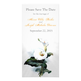 Love Glistens/Elegant White Calla Lily Wedding Card
