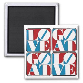 LOVE GOAT BLOCKS REFRIGERATOR MAGNET