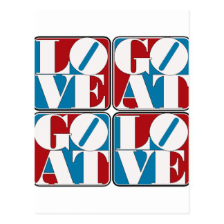 LOVE GOAT BLOCKS POSTCARD