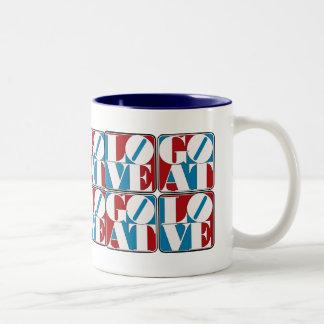 LOVE GOAT BLOCKS Two-Tone COFFEE MUG