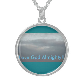 Love God Almighty!! Round Pendant Necklace