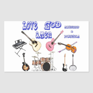 love god amen cool rectangle stickers