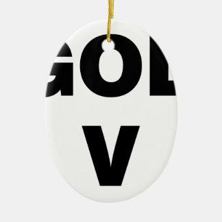 Love God Ceramic Ornament
