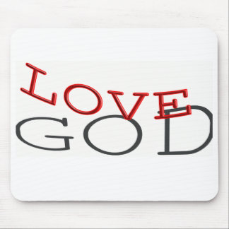 """Love God"" Mouse Pad"