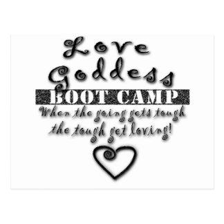 Love Goddess Boot Camp Postcard