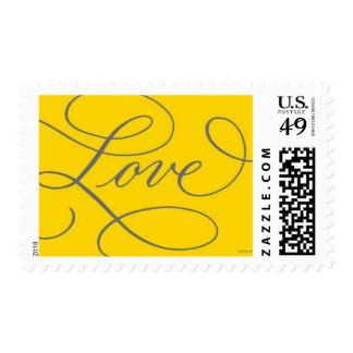 Love . Gold and Slate Postage Stamps