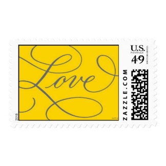 Love . Gold and Slate Postage Stamp
