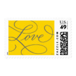Love . Gold and Slate Stamp