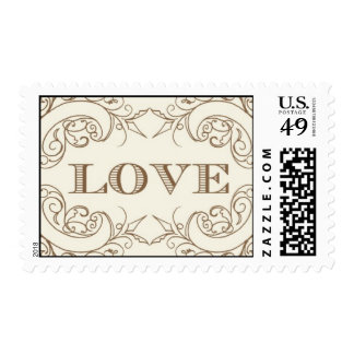 Love - gold by Ceci New York Postage Stamps