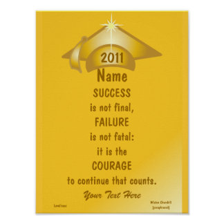 Love Golden Courage For Success Poster -Cust.