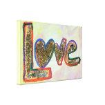 Love Golden Pastels Painting Canvas Print