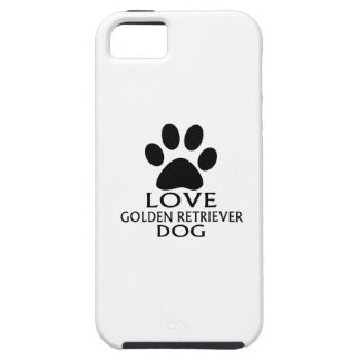 LOVE GOLDEN RETRIEVER DOG DESIGNS iPhone SE/5/5s CASE