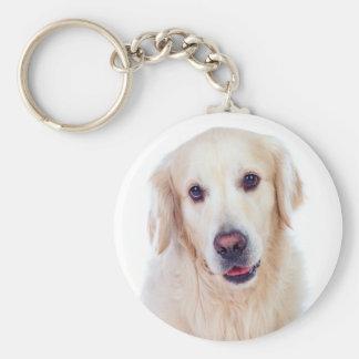 Love Golden Retriever Puppy Dog Keychain