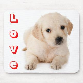 Love Golden Retriever Puppy Dog Mousepad
