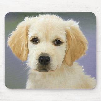 Love Golden Retriever Puppy Dog Painted Mousepad