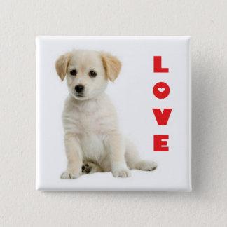 Love Golden Retriever Puppy Dog Pin