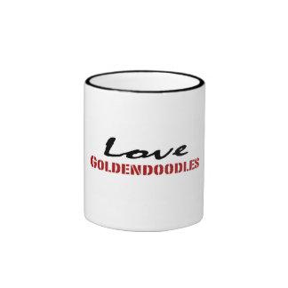 Love Goldendoodles Ringer Coffee Mug