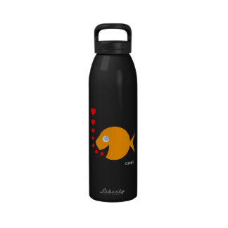 Love Goldfish with Tiny Hearts Reusable Water Bottle