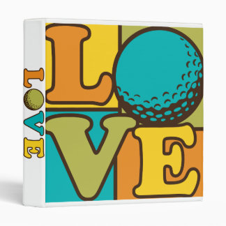 Love Golf 3 Ring Binder