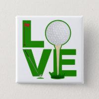 Love Golf Button