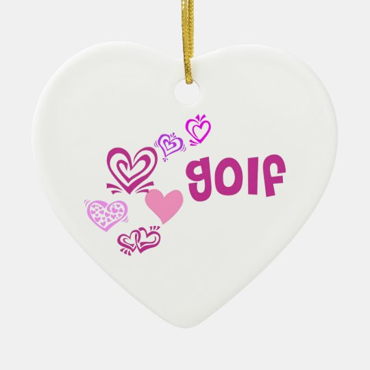 Love Golf Ceramic Ornament