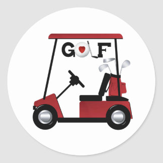 Love Golf Classic Round Sticker