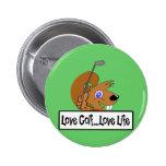 Love Golf Love Life Pinback Button