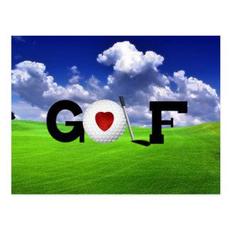 Love Golf Postcard
