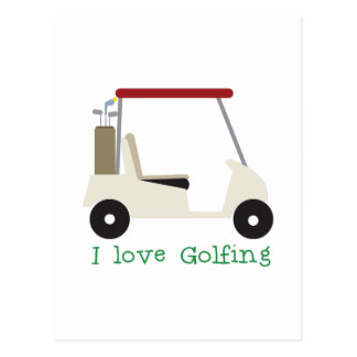 Love Golfing Postcard