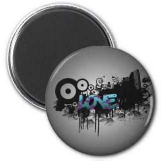LOVE Graffiti 2 Inch Round Magnet