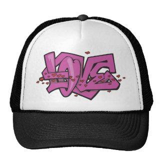 Love Graffiti Art Hats