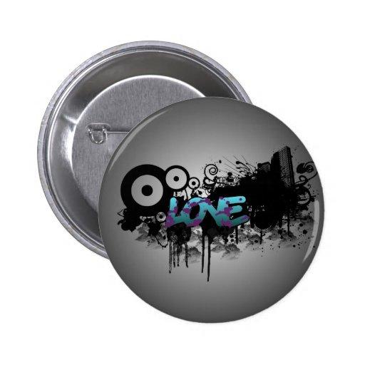 LOVE Graffiti Buttons