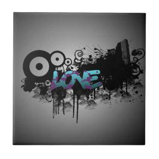 LOVE Graffiti Ceramic Tile