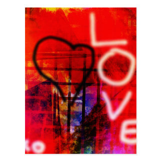 Love Graffiti Postcard