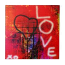 Love Graffiti Tile