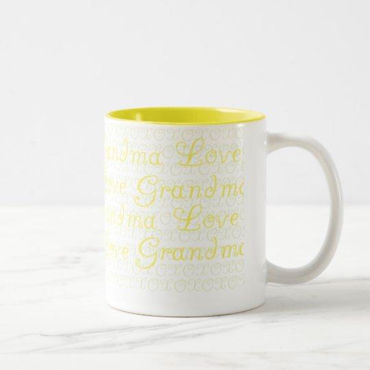 Love Grandma Two-Tone Coffee Mug