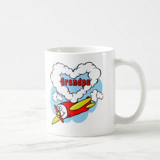 Love Grandpa Kids Airplane Coffee Mug