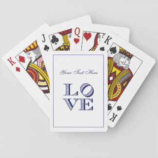 LOVE Graphic Text - Blue Playing Cards