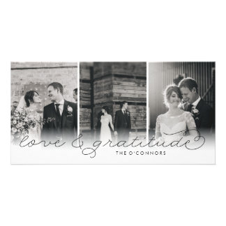 Love & Gratitude Wedding Thank You Photo Cards