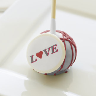 Love - gray and red heart cake pops
