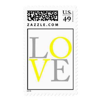LOVE Gray Yellow Stamp