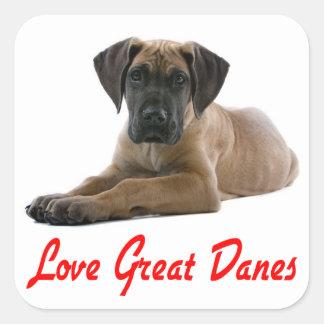 Love Great Dane Puppy Dog Sticker / Seal
