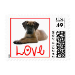 Love Great Dane Puppy Dog US Postage Stamps