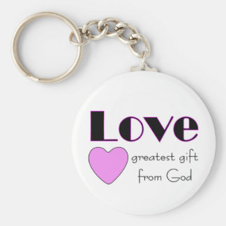 Love, greatest gift from God Keychains