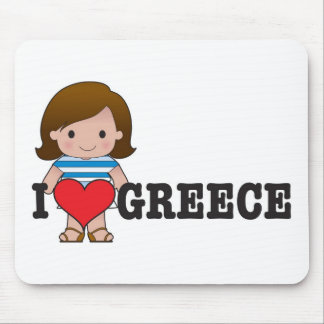 Love Greece Mouse Pads